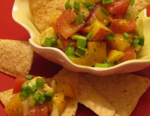 Chunky Peach and Avocado Salsa